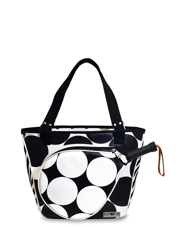 Idawen Bolsa Padel Mujer |Lunares Blanco Y Negro| Fabricado y diseñ ado en Españ a | Producto Vegano, Certificado Peta IDAWEN Sport Fashion