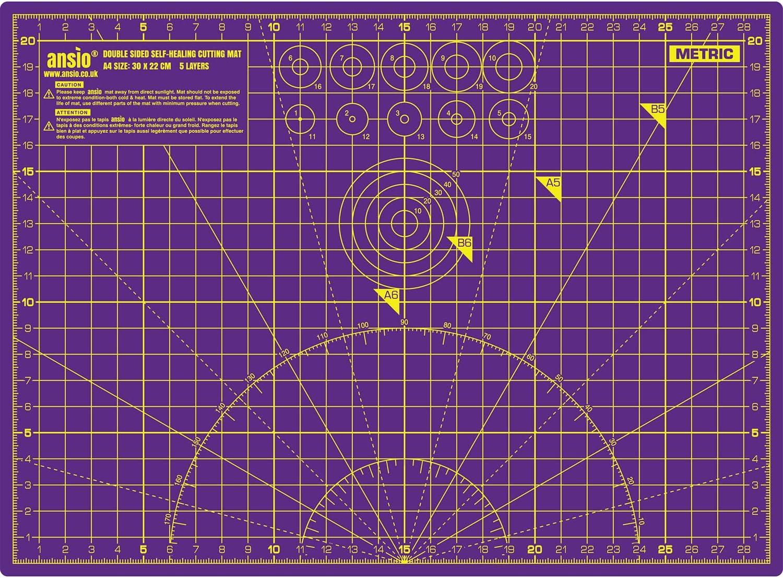 Tapis de Découpe pour Bureau Plastique dur  Format A3 auto-cicatrisant