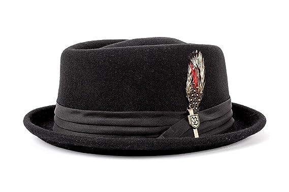 2cfb5a767f69e Amazon.com  Brixton Men s Stout Pork Pie Hat  Clothing