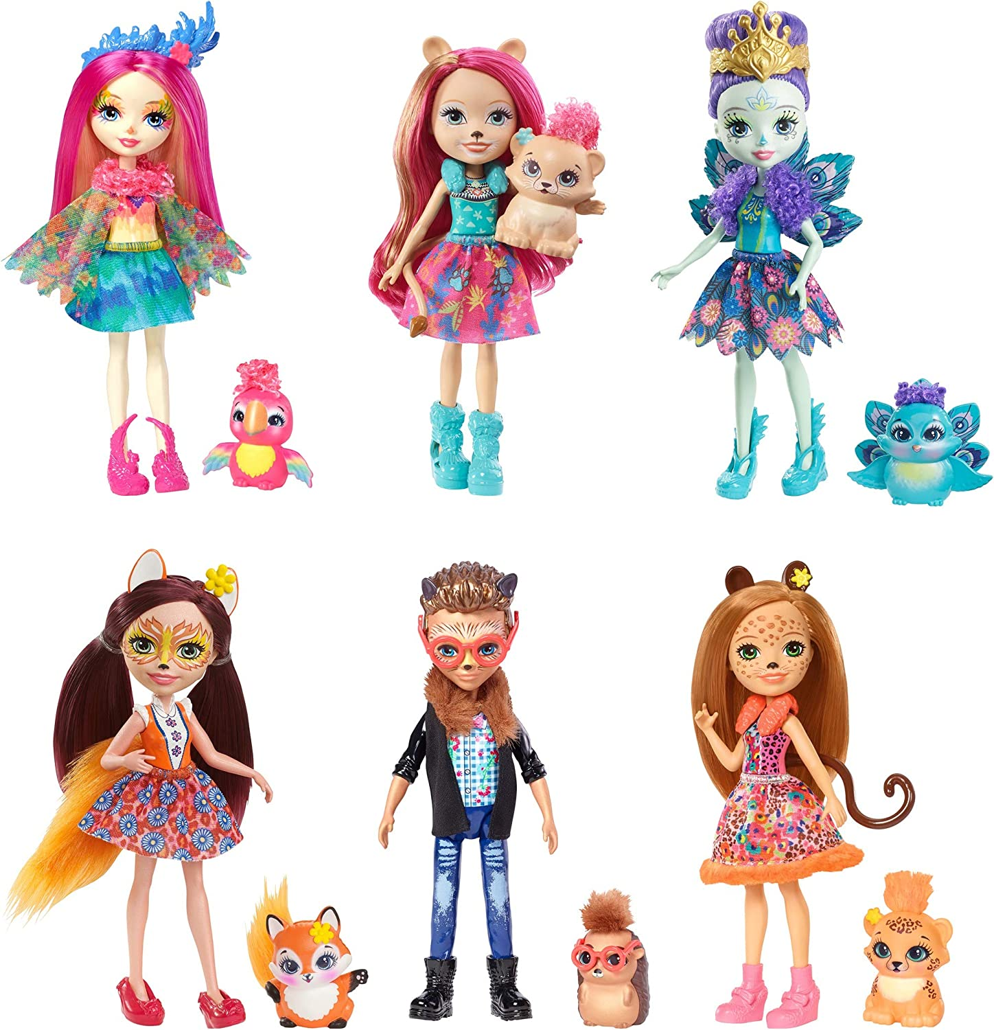 ENCHANTIMALS NATURAL FRIENDS COLLECTION DOLL 6-PACK