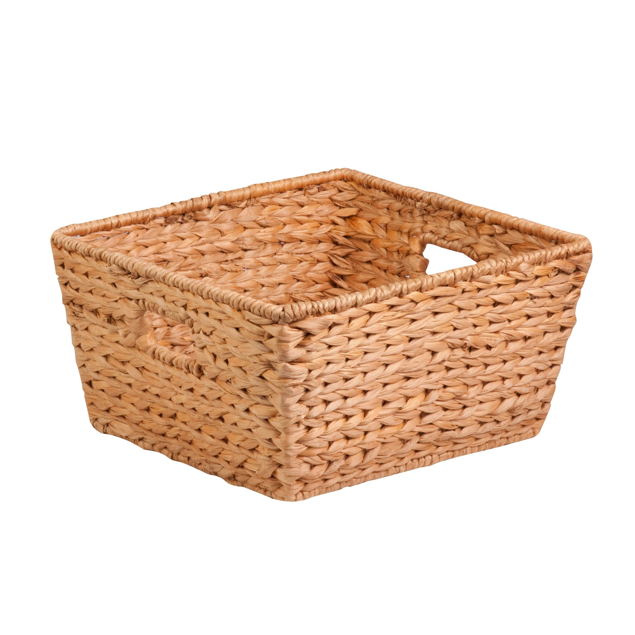 Honey-Can-Do STO-02885 Tall Water Hyacinth Basket Bin, Large, 15 L x 15 W x 8 H