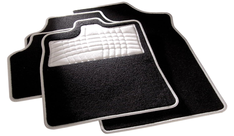 avant et arri/Ã/¨re ann/Ã/©e de construction 09//2010-00//0000 pour  Swift Tapis de sol auto en noir sans support Tapis carfashion 259045/Â/Festival BLANC C03 Sport