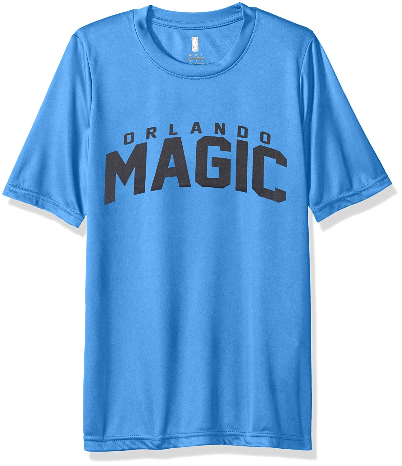 Outerstuff NBA NBA Youth Boys Orlando Magic Curved Ball Short Sleeve Performance Tee 18 Youth X-Large Strong Blue