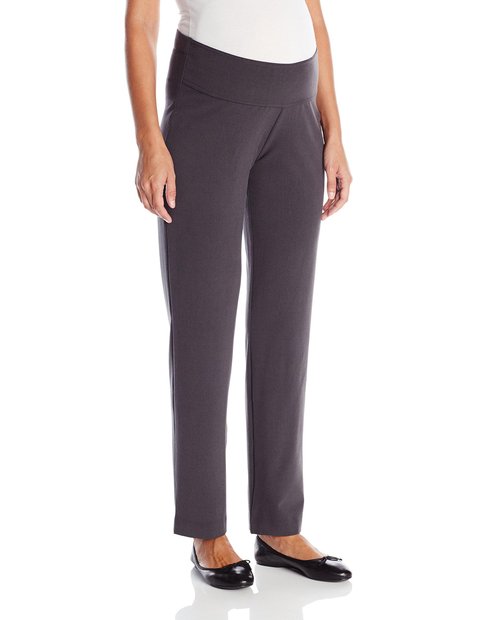 Ripe Maternity Women's Maternity Lancaster Straight Leg Work Suit Pant, Dark Charcoal, Medium by Ripe