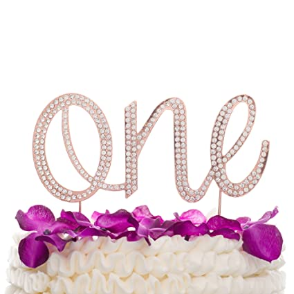 1st Birthday Decorations first Birthday Party Supplies one Cake Topper Rose Gold