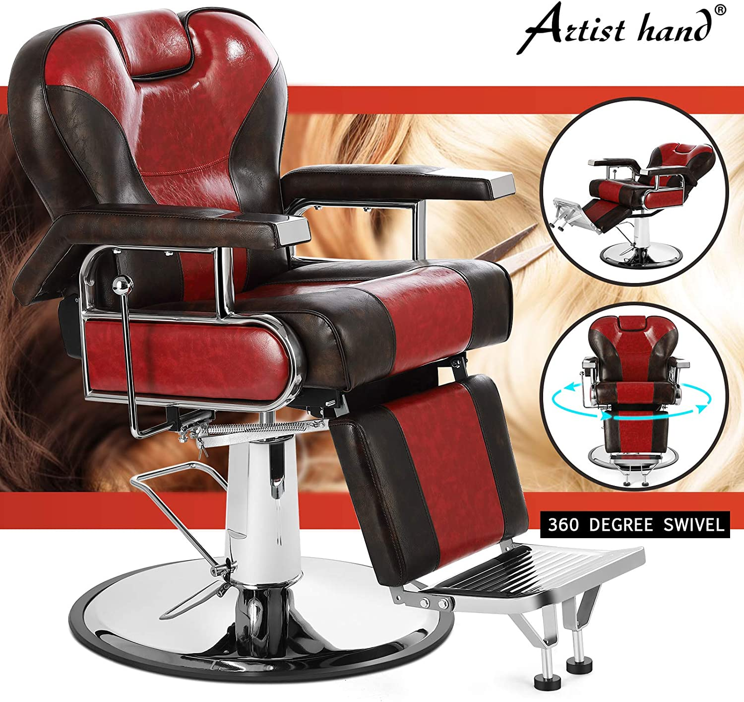 Artist Hand Hydraulic Recline Barber Chair