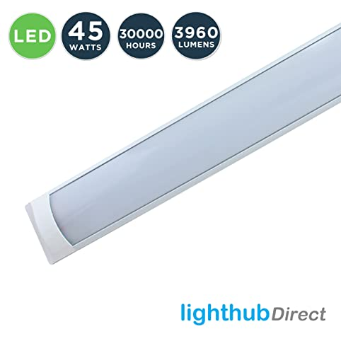 Lighthub 5ft 1500mm 45w 4000k white 240v led slim profile indoor lighthub 5ft 1500mm 45w 4000k white 240v led slim profile indoor ceiling wall surface mounted mozeypictures Image collections