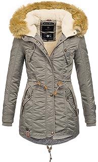 e9d7b99a523c01 Navahoo warme Damen Winter Jacke Teddyfell Winterjacke Parka Mantel B399