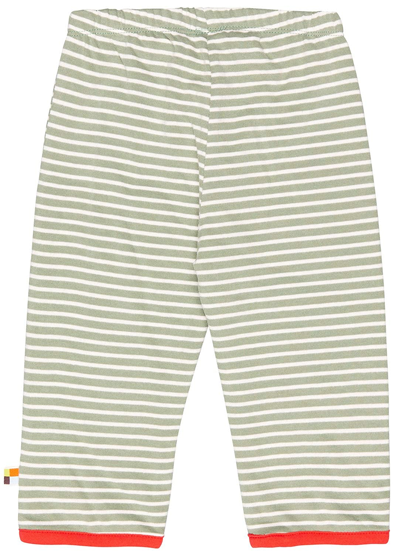 GOTS Zertifiziert Pantaloni Bambina proud Hose in Melange Strick aus Bio Baumwolle loud