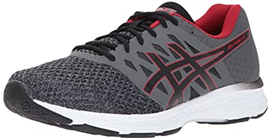 ASICS Men's Gel-Exalt 4 Running Shoe, Carbon/Black/Classic Red,