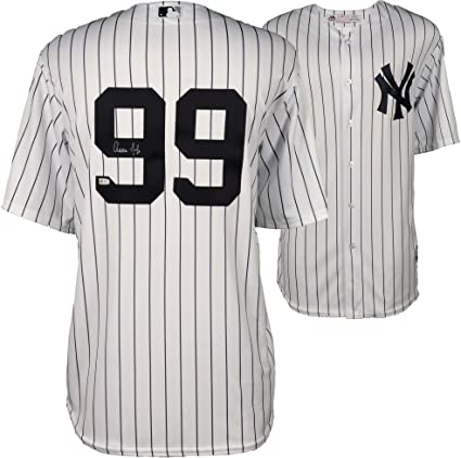cheap for discount 17ae9 90d1a Aaron Judge New York Yankees Autographed Majestic White ...
