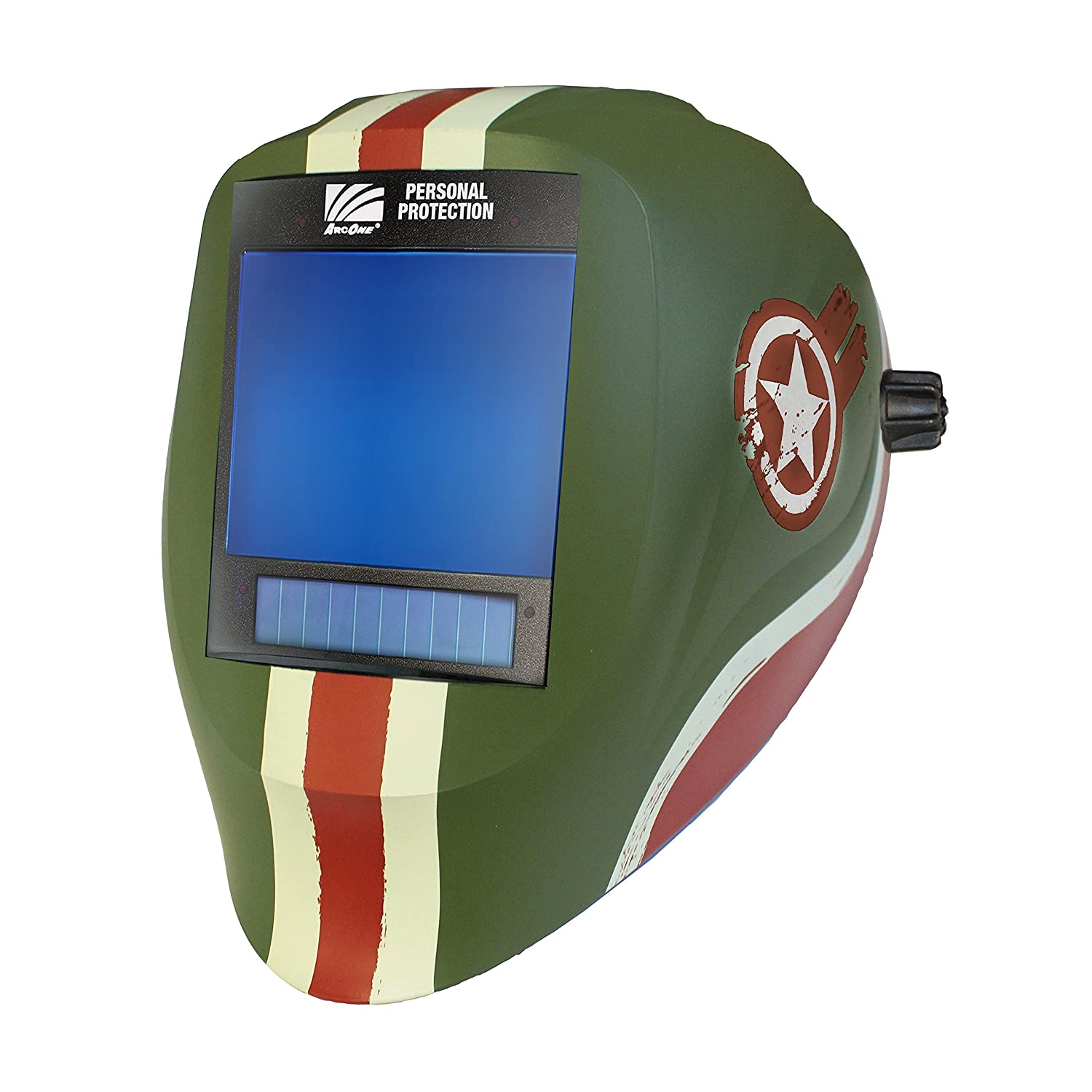 ArcOne AP-X81VX-1523 Vision Welding Helmet Shell with X81VX XTreme 5 x 4 Digital ASIC and X-TIG Auto-Darkening Filter and AirPlus Respiratory System Speedway