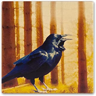 product image for Bird - Raven Wooden Coaster
