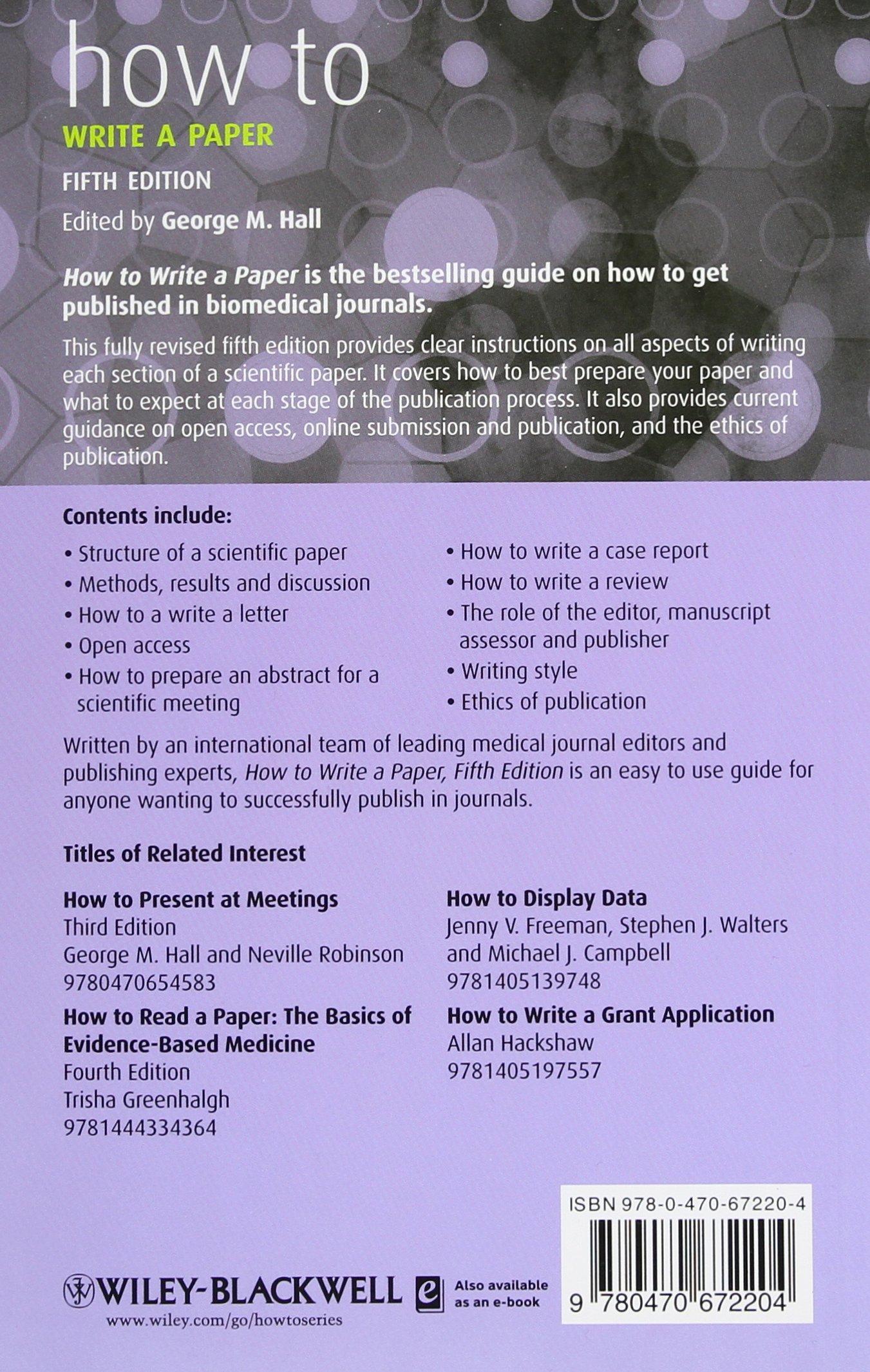 How To Write A Paper | How To Write A Paper How How To Amazon De George M Hall