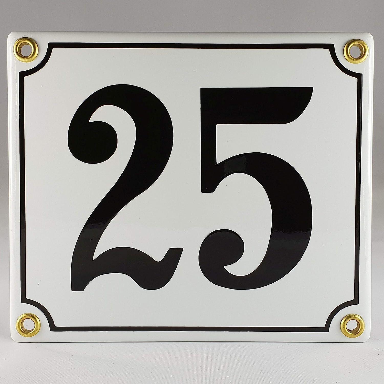 Plaque de num/éro de maison /émaill/ée bleu-blanc//noir-blanc 1-49