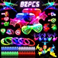 JAT RRBD 82PCs LED Light Up Toys Party Favors,Easter present Glow in the Dark Party Supplies for Boys,Girls Kids/Adults,with