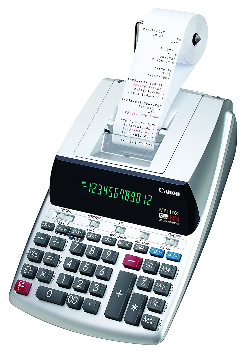 Amazon.com: Canon MP11DX-2 - calculadora con impresora para ...