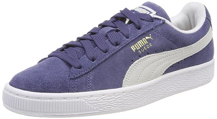 Puma Suede Classic Sneaker Damen Herren Unisex Wildleder Blau (Blue Indigo)