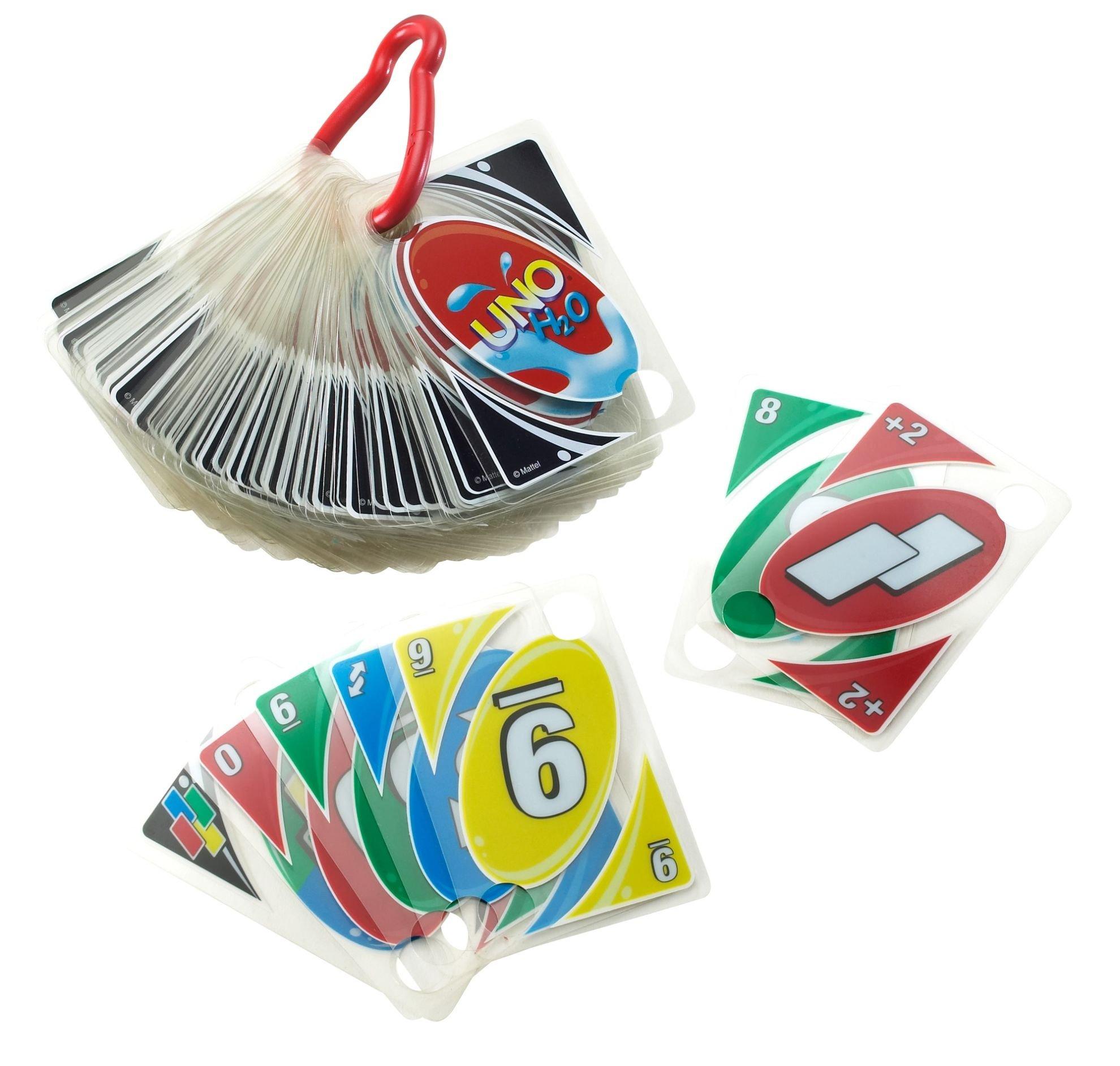 Comprar Mattel-UNO H2O To Go H20 Juego de cartas, Multicolor, 7+ (P1703)
