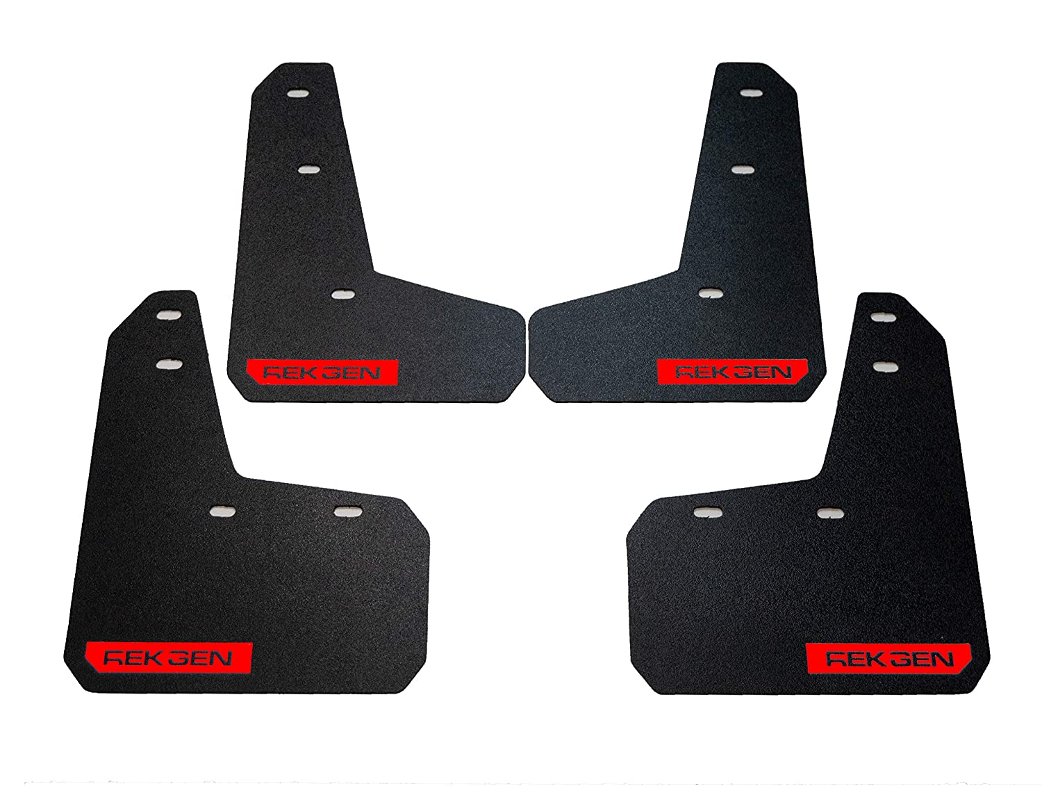 Rek Gen Rally Mud Flaps Compatible w//Ford Focus 11+ Red Logo