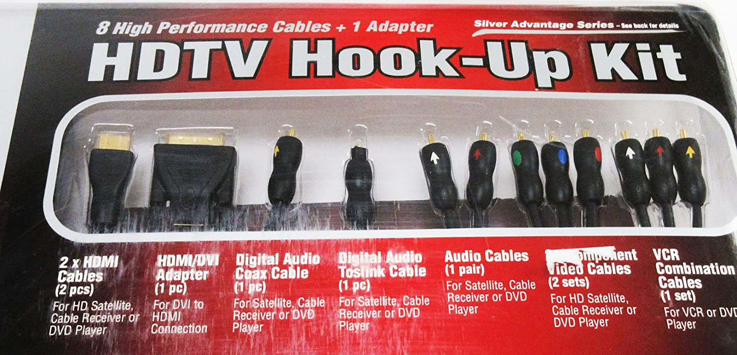 Amazon.com: Wirelogic Logical Solutions Hdtv Hook-up Kit 8 High ...