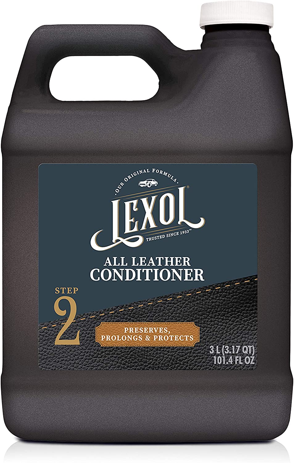 Lexol Leather Conditioner 3L Bottle, for Use on Leather Apparel, Furniture, Auto Interiors, Shoes, Handbags and Accessories