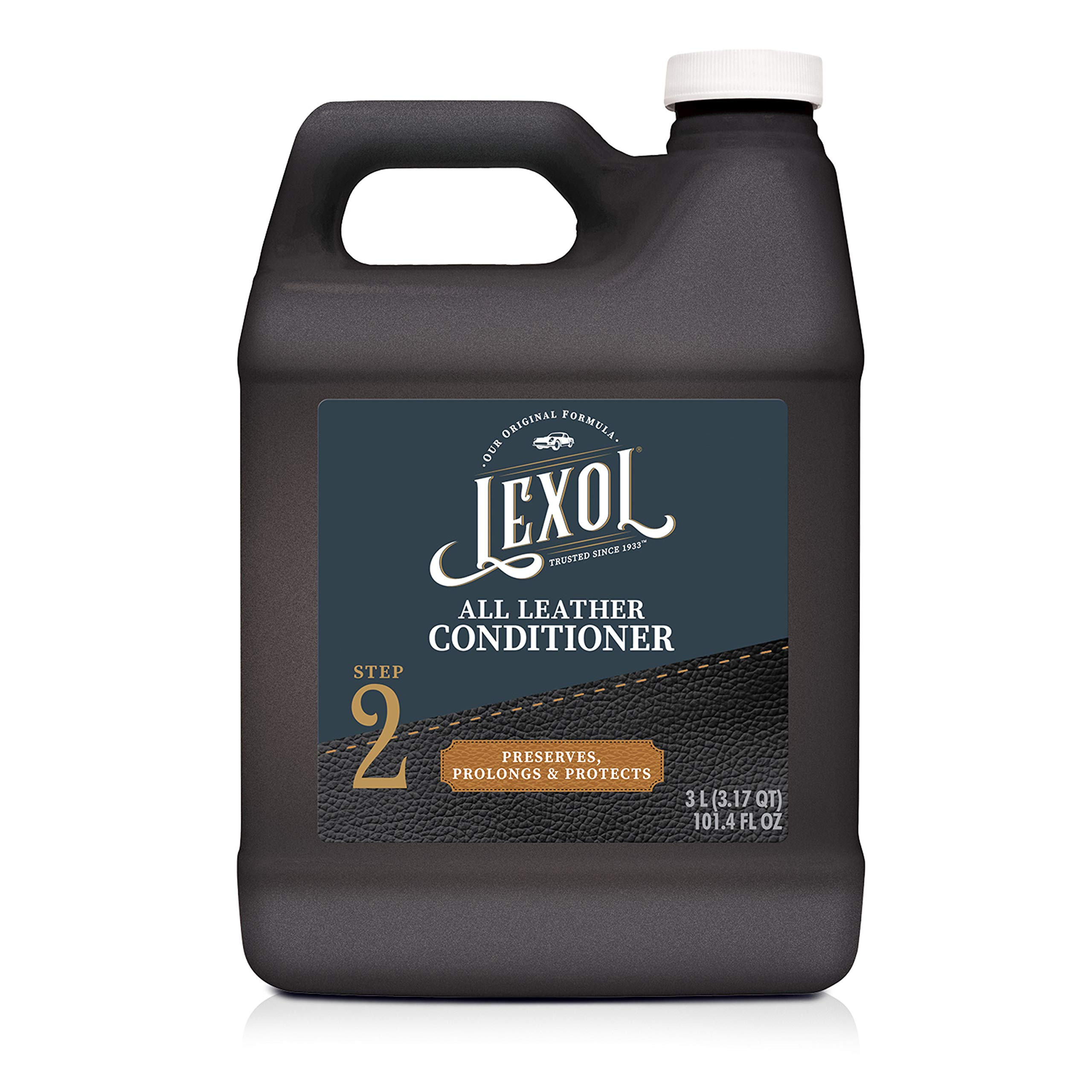 Lexol Leather Conditioner, 3 Liters, Best Cleaner and Conditioning Since 1933 3-Liter for Use on Apparel, Furniture, Auto Interiors, Shoes, Bags and More (E300858100)