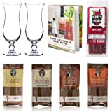 Bloody Mary Cocktail Gift Set - Glasses, Demitri's Mixes & Recipe Book - 8 Piece Set