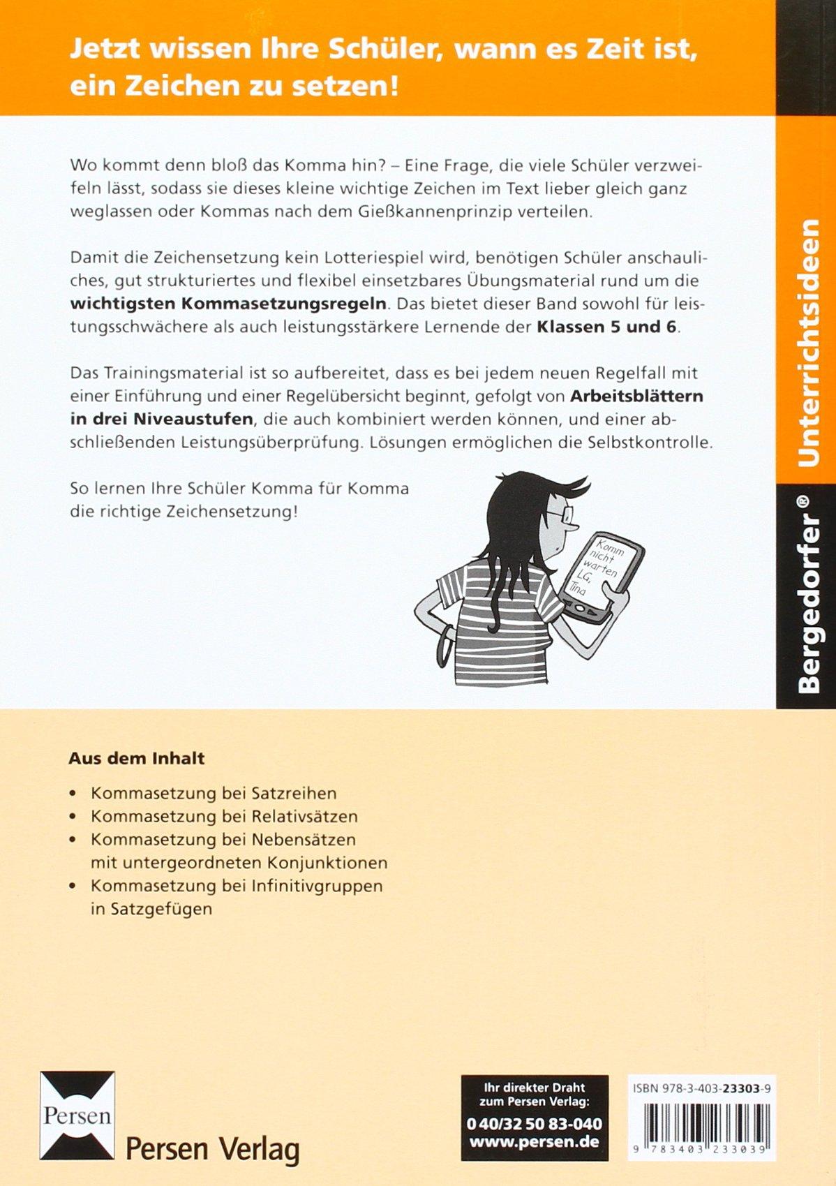 Training Kommasetzung: Übungsmaterial in 3 Differenzierungsstufen 5 ...