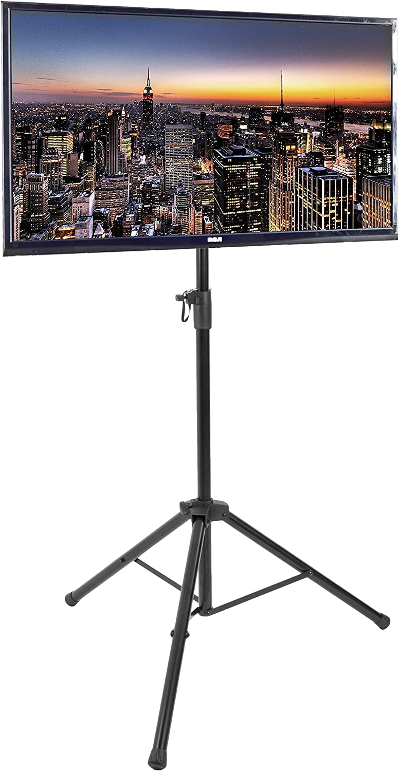 Height Adjustable and Legs Foldable Rfiver Portable Tripod TV Display Floor Stand with Swivel /& Tilt Mount for 32-70 Plasma LCD OLED Flat//Curved Screen TVs Black Max VESA 600x400mm LED