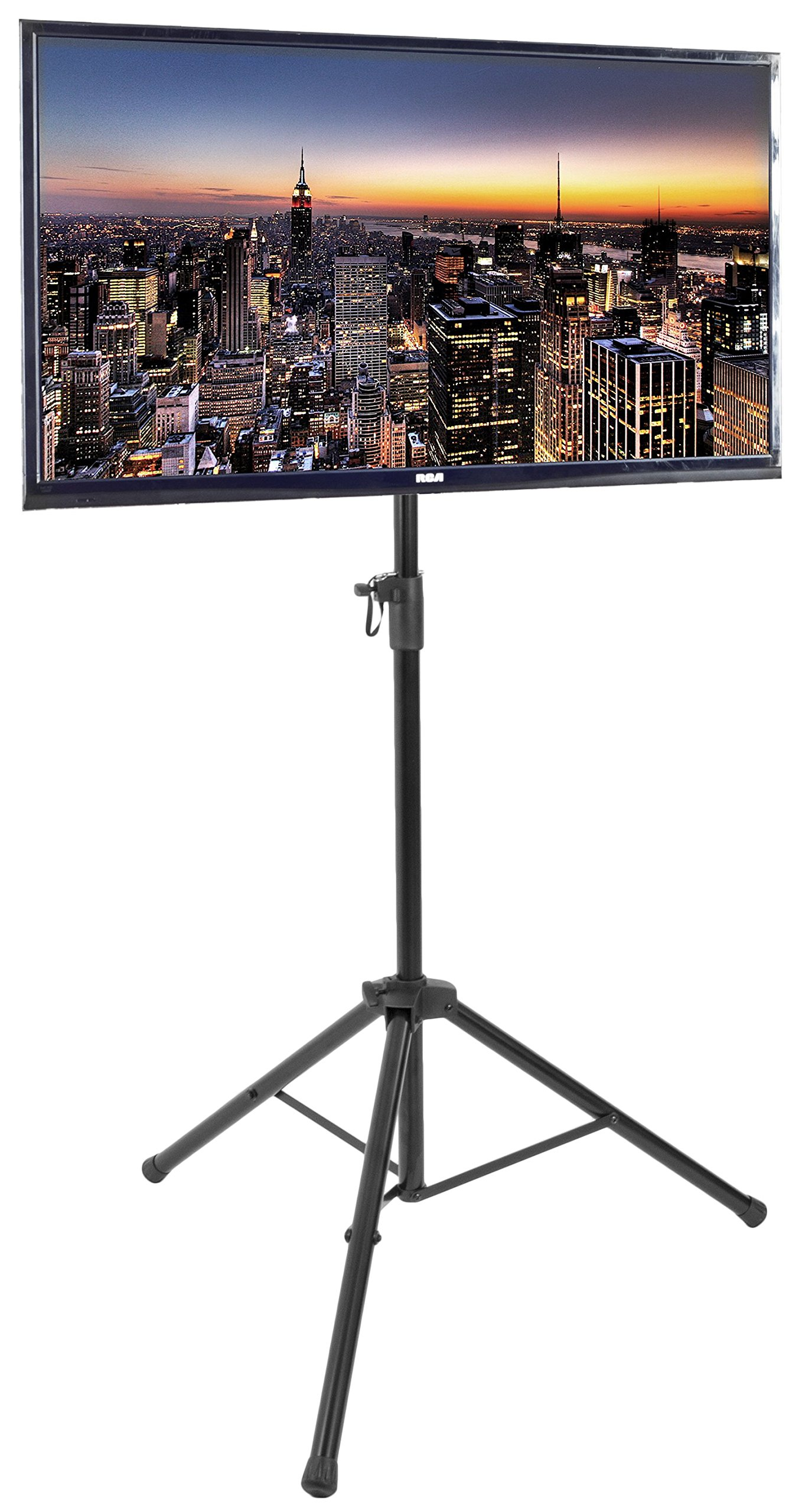 VIVO Black Tripod TV Display Portable Floor Stand Height Adjustable Mount for 32'' to 55'' Flat Screens (STAND-TV55T)