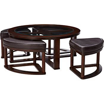 Amazon Com Coffee Table With Beveled Glass Top And Black