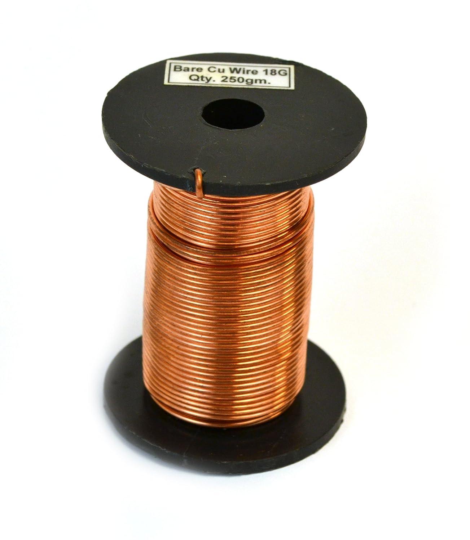 Amazon.com: Eisco Labs Copper Wire, Bare, 80ft Reel, 18 SWG (16/17 ...