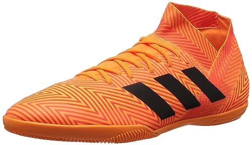 best service 5ae72 7b1a8 adidas Men s Nemeziz Tango 18.3 Indoor Soccer Shoe Zest Black Solar red 7 M