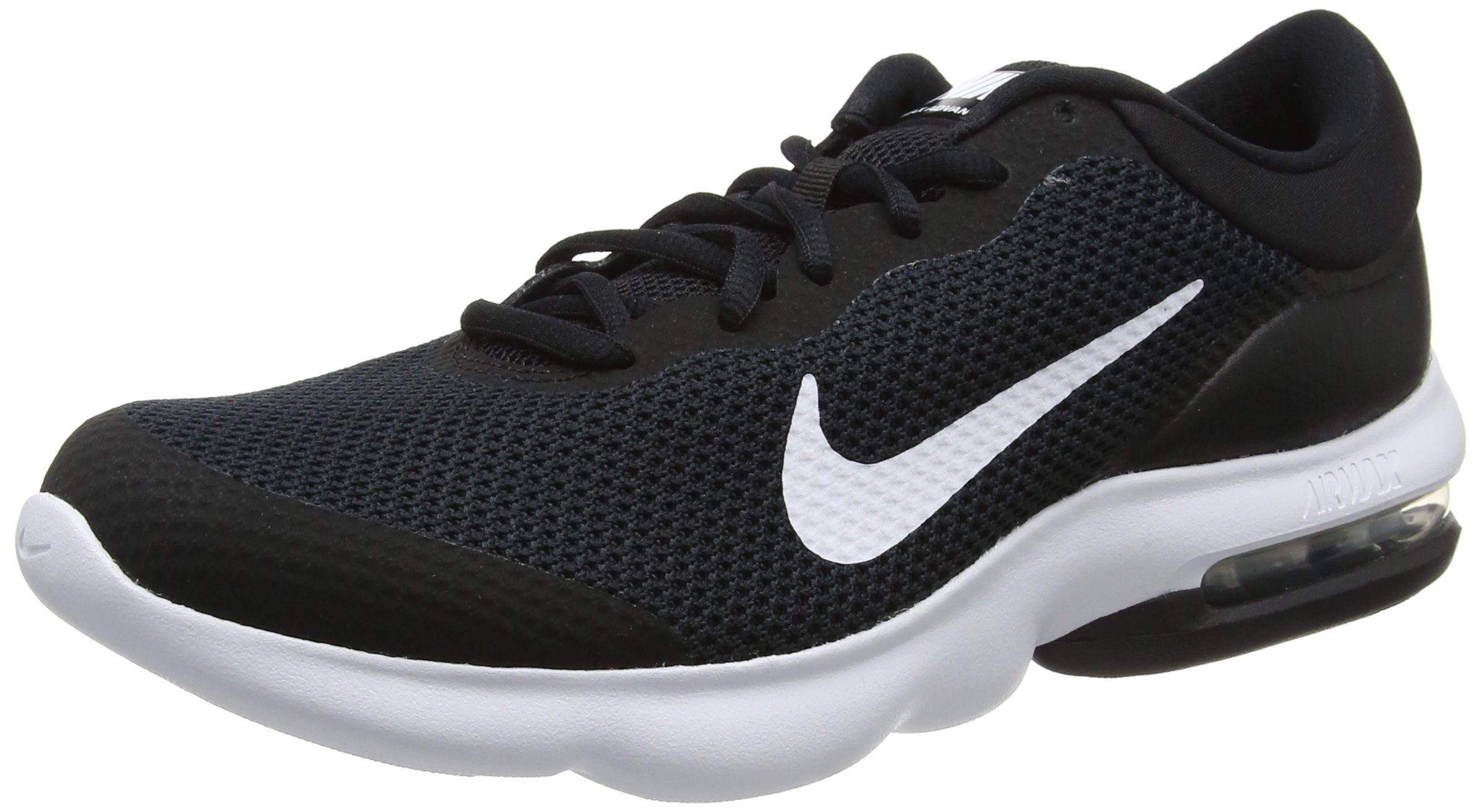 NIKE Men's Air Max Advantage Running Shoe Black/White Size 11 M US
