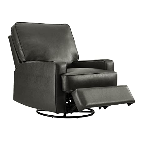 Dorel Living Dayton Swivel Gliding Recliner, Charcoal