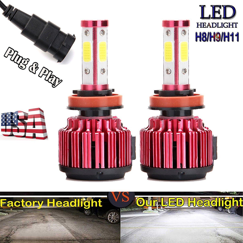 1 coppia H8 H9 H11 LED Headlight Bulbs 20000LM 6000 K bianco puro super Bright High/Low Beam/Fog Light/DRL All-in-One kit di conversione AutoBaBa