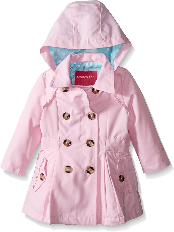 London Fog Baby Girls Lightweight Trench Coat 24 Months Light Pink