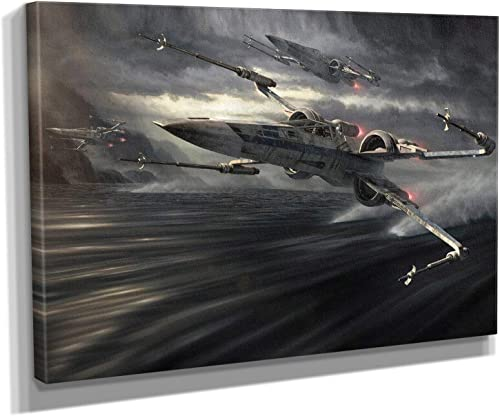 X Wing Star Wars Canvas Art Wall Art Home Decor 45in x 30in Gallery Wrapped