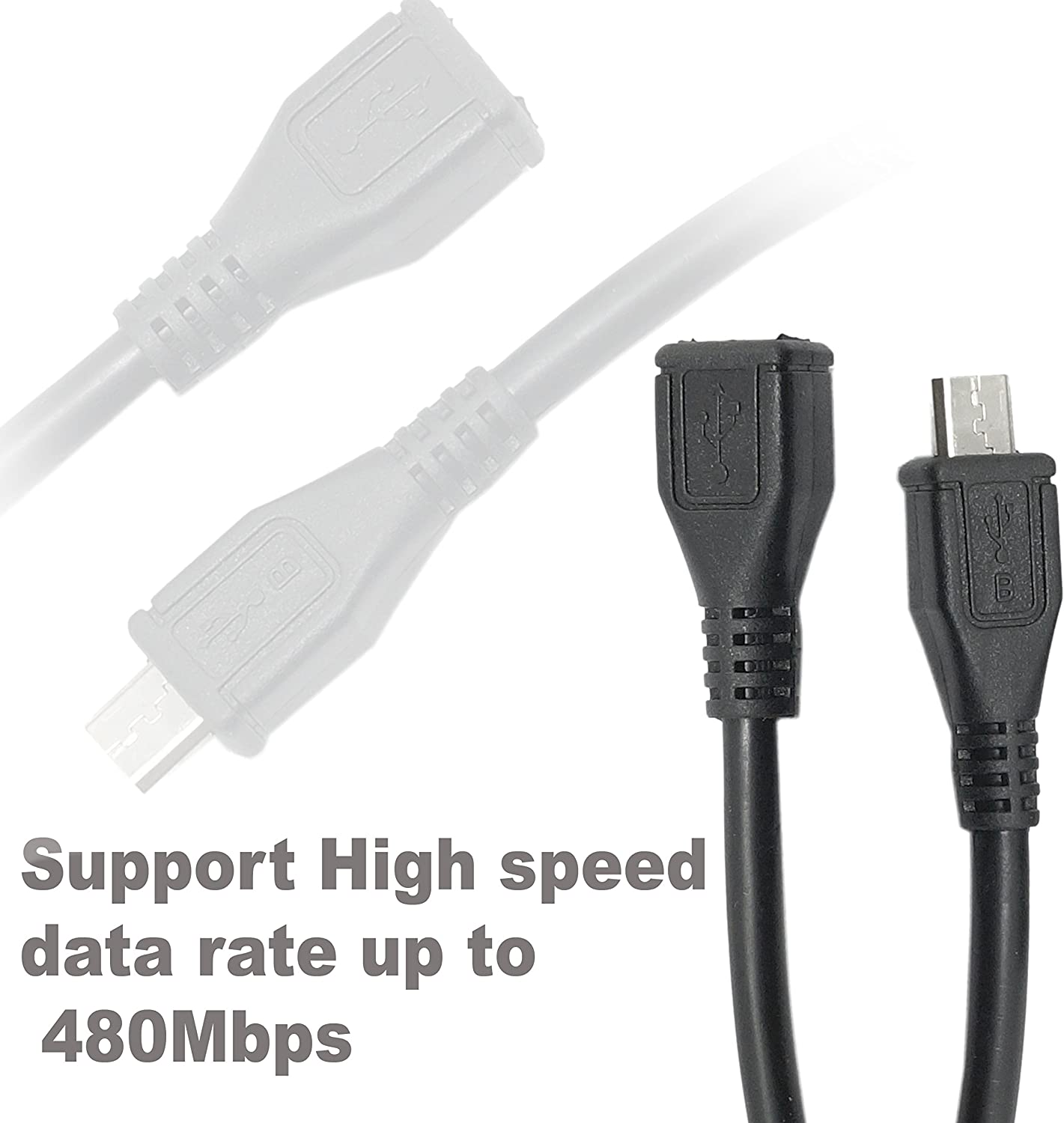 """Lot of 10 Flip USB Cable Cord 3/' Ft Extension A-Male to A-Female M-F White 36/"""""""