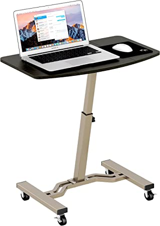 Lovely LeCrozz Height Adjustable Mobile Laptop Stand Desk Rolling Cart
