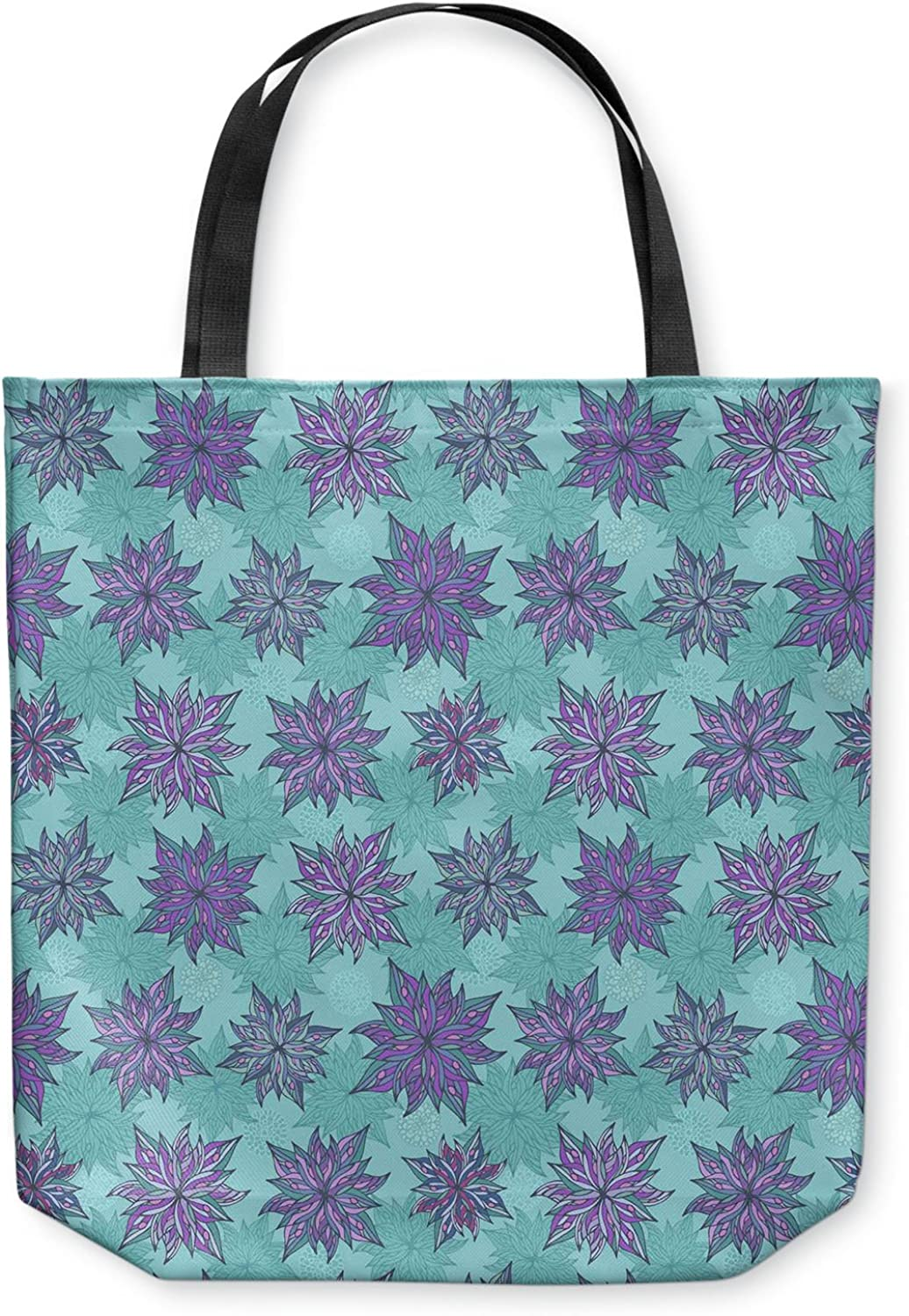 Deco Flowers DiaNoche Designs Tote Shoulder Bags by Julia Grifol