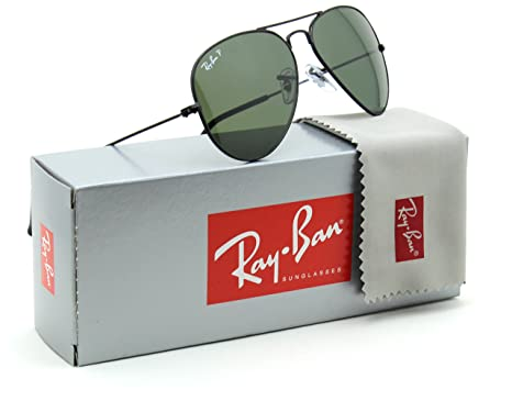 e427d2240d0 Image Unavailable. Image not available for. Color  Ray-Ban RB3025 Aviator  Classic Polarized Sunglasses Black 002 58 ...