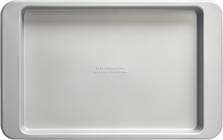 KitchenAid Nonstick Aluminized Steel Baking Sheet, 9x13-Inch, Silver