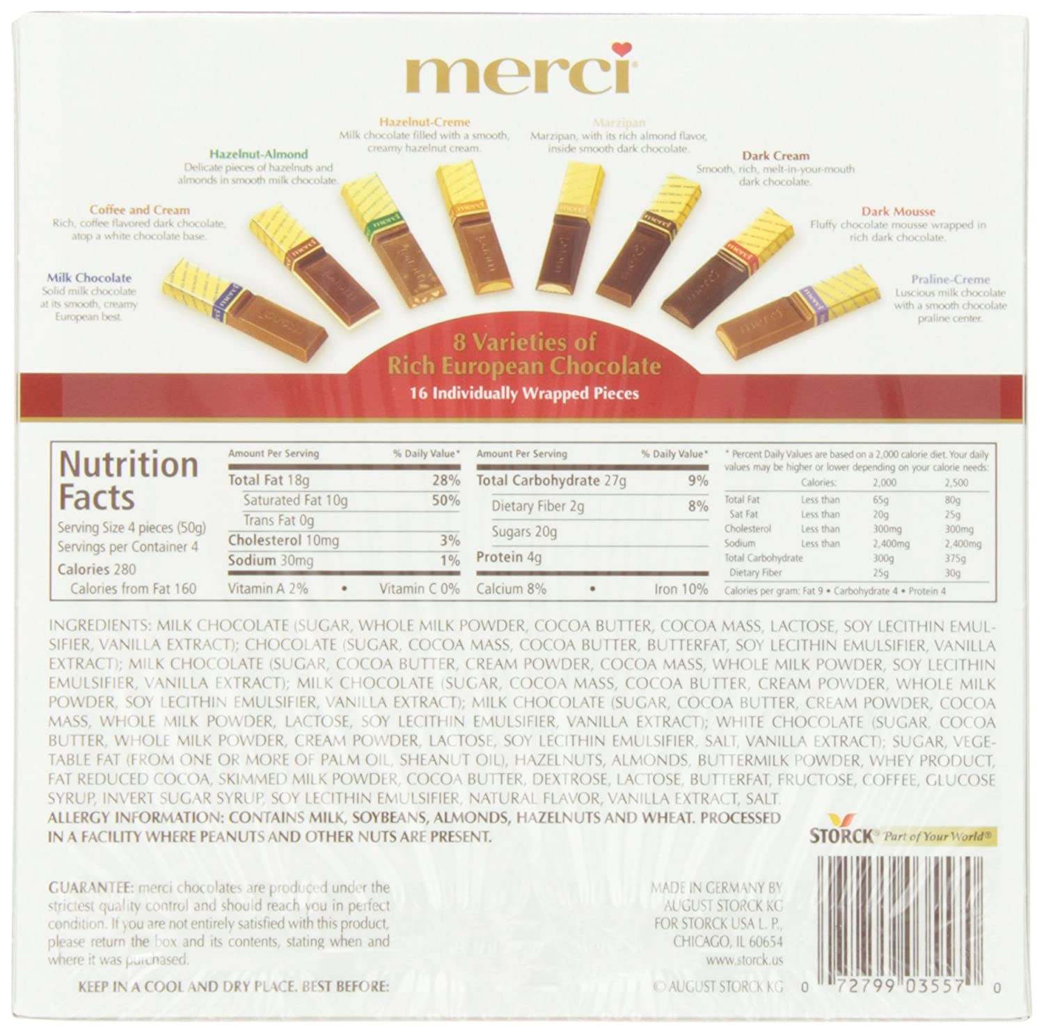 Amazon.com : Merci European Chocolates, 7 Ounce (Pack of 10 ...