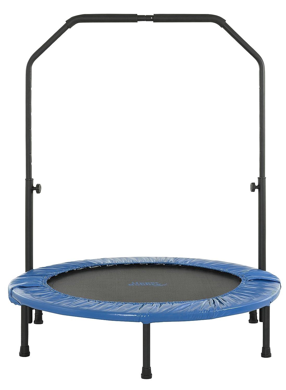 Upper Bounce Faltbares Rebounder Fitness Trampolin mit verstellbarem Handlauf