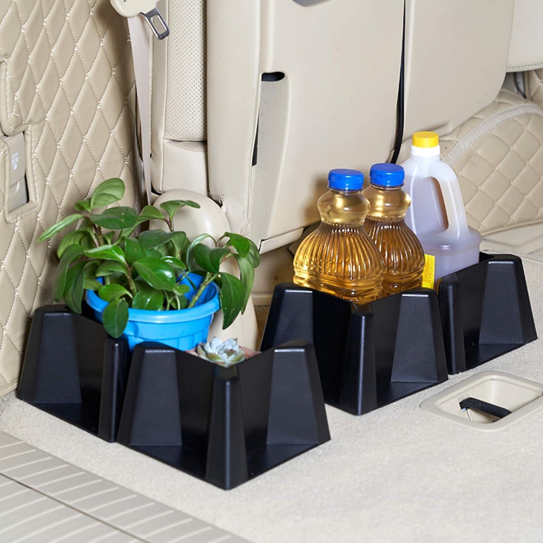 Multipurpose Cargo Holder for Trunk Car SUV Van Set of 4 Hausse Cargo Blocks Trunk Organizer