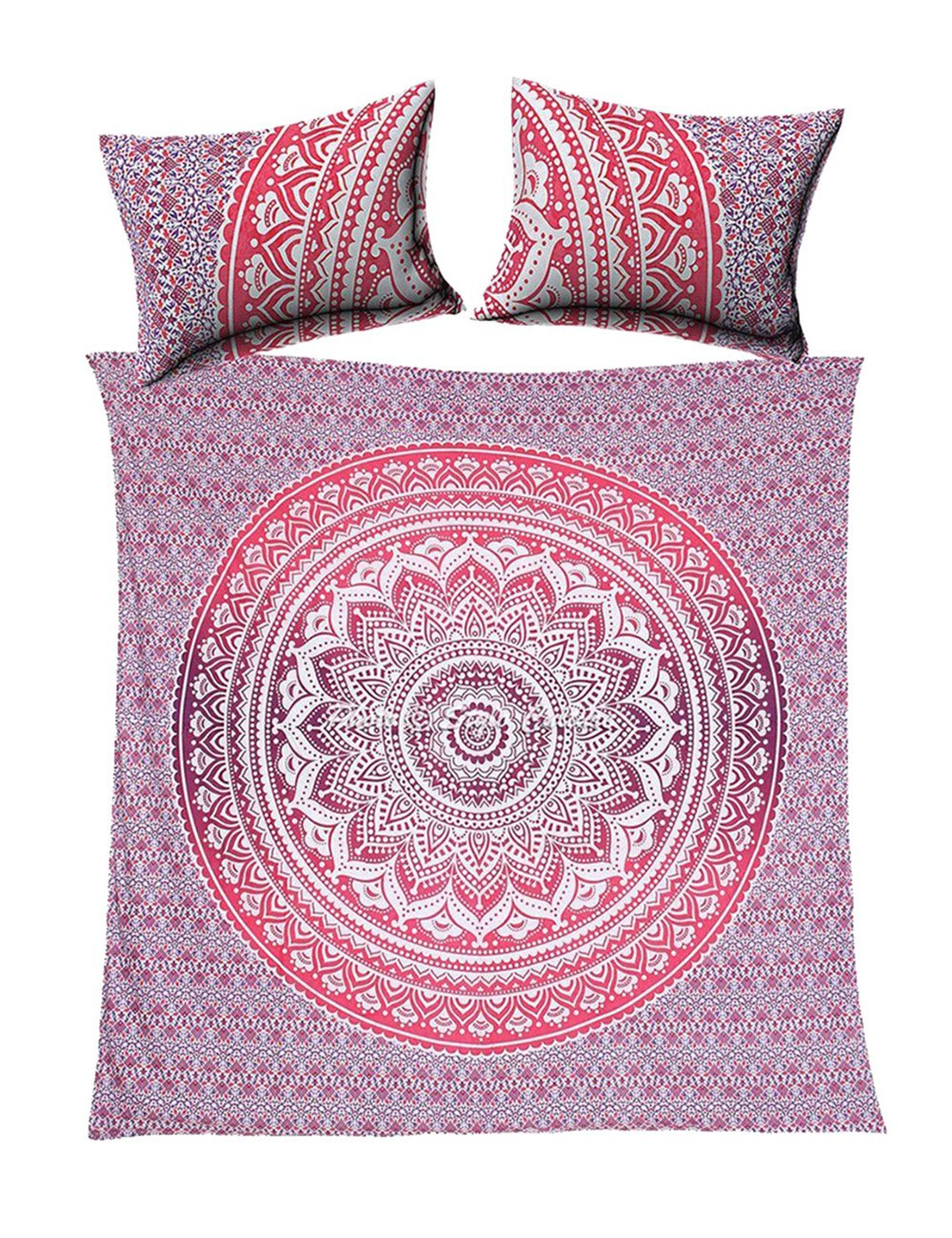 itsindiancrafty Indian Boho Street Reversible Beautiful Duvet Quilt Cover Coverlet Bohemian Set With Pillow Cover Twin Size 80'' x 52''