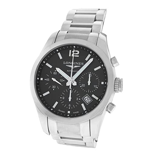 Longines Conquest swiss-automatic Mens Reloj L27864566 (Certificado) de segunda mano: Longines: Amazon.es: Relojes