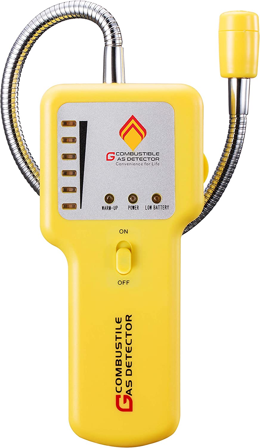Y201 Portable Combustible Natural Gas Leak Detector; Portable Gas Sniffer, Detect Leaks of Combustible Gases Such as Methane, Propane, Natural Gas, Fuel, LPG,LNG ;Sound & Visual Alarm